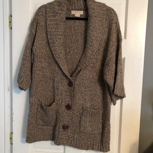 MICHAEL Michael Kors Brown 3/4 Sleeve Sweater